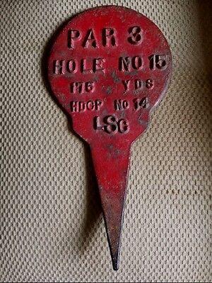 Antique/Vintage Golf Hole Tee Yardage Marker! Cast Iron.Look!