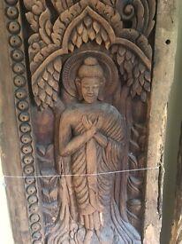 Antique Thai Temple Teak Doors