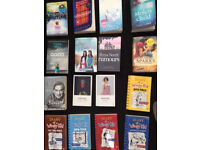 selection of books all selling for 50P PAPERBACKS OR £1 each wimpy kid etc