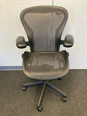 Herman Miller Aeron Fully Adjustable Size B Medium Dark Purple Aeron Chair