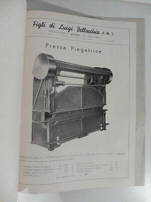 Figli di Luigi Bellocchio, Milano. Catalogo presse, piegatrici universali cesoie