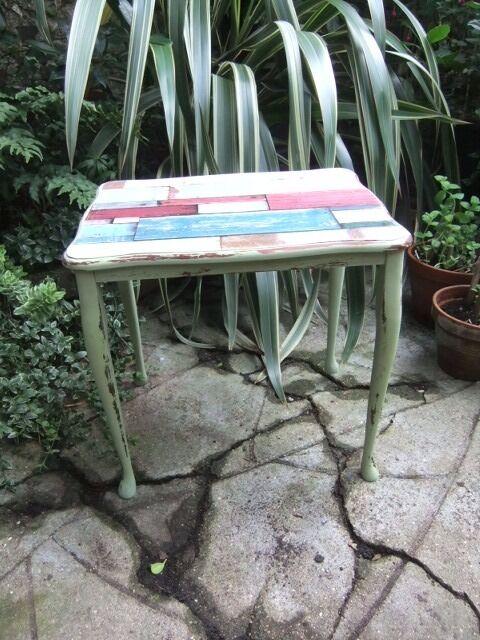 side table, designed