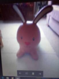 Easter bunny kid sit on inflatable sit on toy