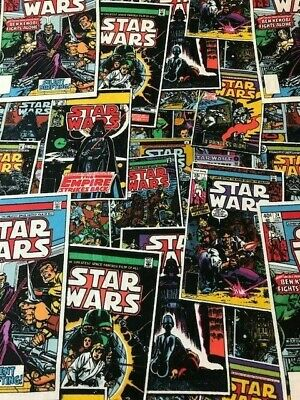 "STAR WARS licensed 100% cotton fabric 45"" wide craft free p&p craft material"