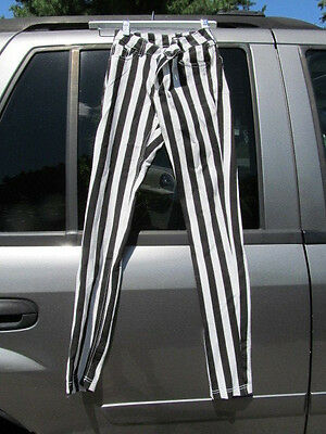 Black & White Striped Pants Size S Halloween Pants