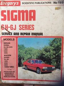 Sigma GH-GJ Series Gregory's Workshop Manual. Ocean Grove Outer Geelong Preview