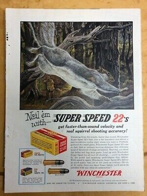 2 Great color WINCHESTER Ads 1955 and 1965 FIELD & STREAM MAGAZINE