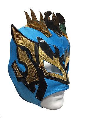 Kalisto - Lucha Drachen - Blau Kinder Größe Ringer Maske Kinder Kostüm - Lucha Libre Kostüm