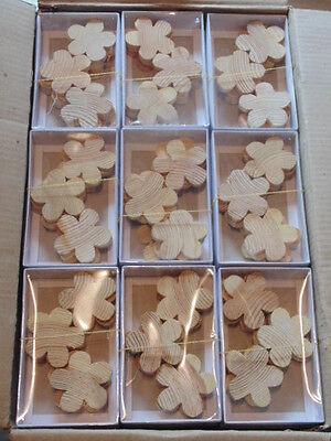 72 Blisterboxen  mit Holzblüten je ca  7,0 cm groß 9er Box Naturholz unbehandelt