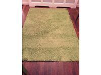 Green Ikea Hampen Floor Rug. Good condition. 133x195 cm
