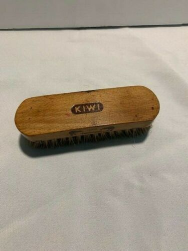 "Vintage Kiwi 100% Horsehair Shoe Shine Brush 5"""