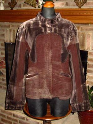ArTsY LAGENLOOK YOSHI YOSHI by PJ JAPAN DECONSTRUCTED BROWN SWEATER  L