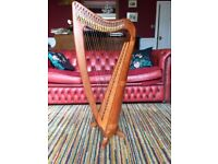 Beautiful little celtic style harp ,amazing sound .Very high quality harp.