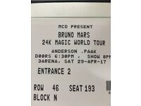 2 x Tickets for Bruno Mars in 3Arena Dublin 29 April 17