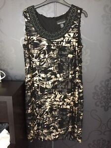 ROBE FRANK LYMAN DRESS GR/SZ 14 AVEC BOLERO $65