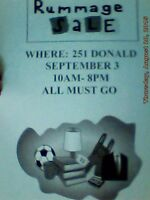RUMMAGE SALE @ 251 DONALD ST / OVERBROOK 10-8PM :)
