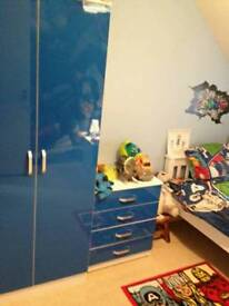 Blue kids chest of drawers new in box