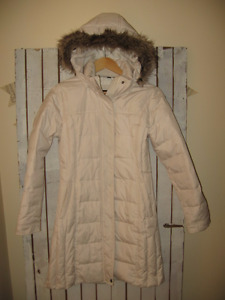 3/4 length down filled winter coat