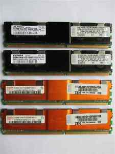 Hynix & Elpida PC2-5300F ECC 512mb X 4 Server ram
