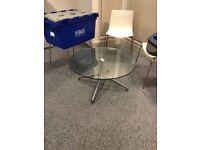 Boss design Kruze circular glass coffee table
