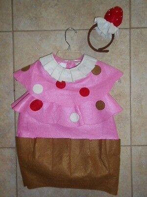 POTTERY BARN CUPCAKE COSTUME WITH HEADBAND girls 2T-3T or 4-6](Girls Cupcake Costume)