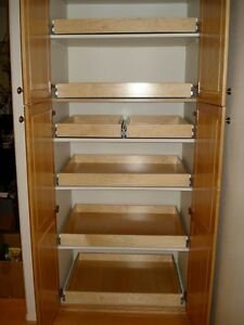 shelves with approx. 8-16 drawers/sliders for cargo trailer