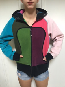 Lululemon Multi Colored Full Zip Hoodie Size Medium