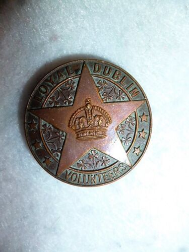 WW1 Loyal Dublin Volunteers Lapel Badge, Genuine Irish Badge, Officially Number