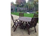 Garden Table and chairs (5 piece)
