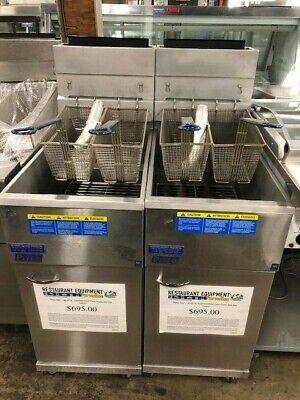 Pitco 40d - 40-45 Lb. Stainless Steel Floor Fryer Nat Gas