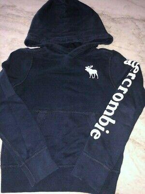 Abercrombie Kids Boy's Navy Hoodie Sweatshirt L