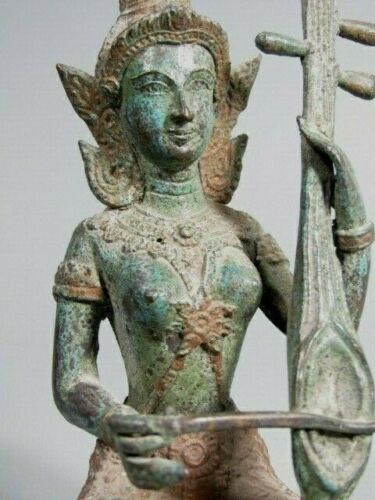 Thai Thailand Sukhothai Rattanakosin Style Bronze Buddhist Musician ca. 20th c.