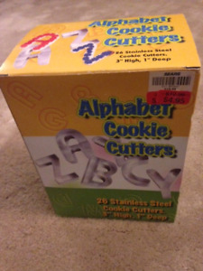 alphabet cookie cutters in Peace River
