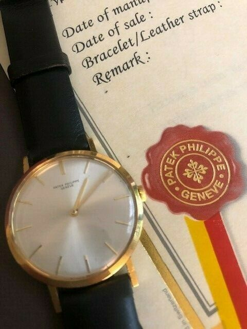 Patek Philippe Ref 3537 Rare Silver Sunburst Dial + Box + Papers from 1970 gold - watch picture 1