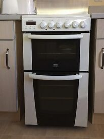 Zanussi electric cooker with ceramic hob and fan oven.