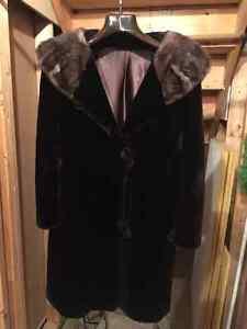 Vintage full length Mouton fur coat Edmonton Edmonton Area image 1