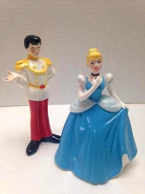 """Disney Japan """"Cinderella & Prince Charming"""" Figurines + Free Bonus Figurine"""