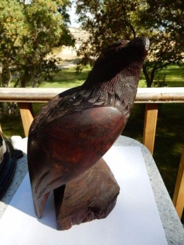 Handcarved Ironwood Eagle Sculpture