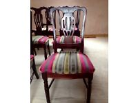 6 High Back Dinning Chairs