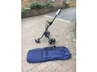 Golf bag travelling case and golf trolley for sale