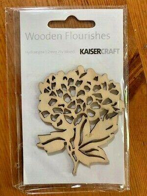 Kaisercraft Hydrangea Wooden Flourishes, FL360, 2mm ply wood