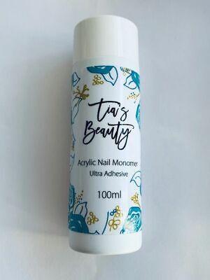 TIA'S BEAUTY NAIL ACRYLIC LIQUID MONOMER - 100ml nails retention tips tias