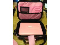 "Pink 10"" Notebook Netbook Laptop With Webcam & Wi-Fi (MSI U135DX). AC Adapter, Power Cable & Case"