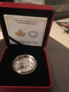 2017- Canada- Bejeweled Bug-Bee Pure Silver Colored Coin.
