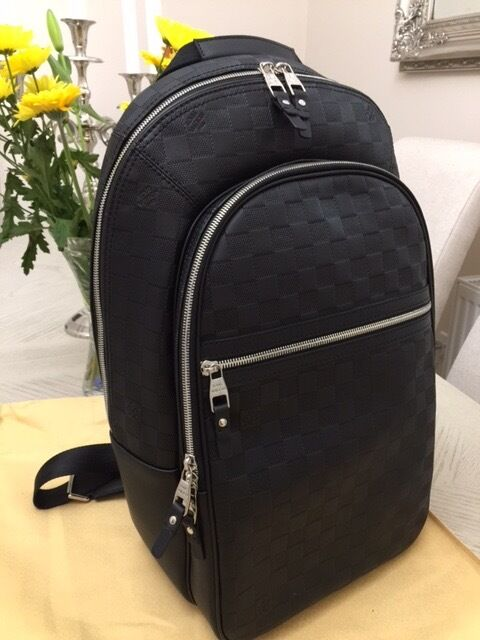 Louis Vuitton Lv Michael Backpack Rucksack Real Leather 4ab08e3454500