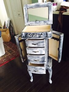 STANDING JEWELLERY CHEST very good condition