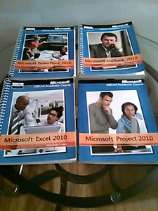 4 Microsoft spiral books powerpoint excel project outlook 2010