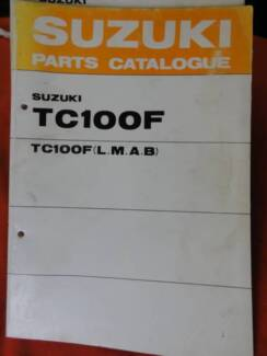 SELECTION OF SUZUKI MOTORCYCLE PARTS BOOKS  c1970's Dianella Stirling Area Preview