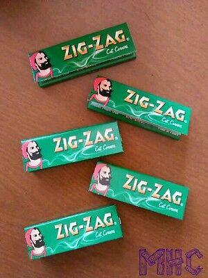 5 Books! ZIG-ZAG Cut Corners 1.0 Cigarette Rolling Papers!