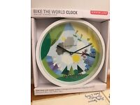 Kikkerland Bike The World Wall Clock, 8-Inch - £15